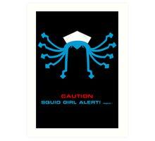 CAUTION Squid Girl Alert! degeso~ Art Print