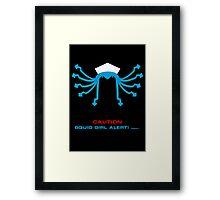 CAUTION Squid Girl Alert! degeso~ Framed Print