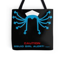 CAUTION Squid Girl Alert! degeso~ Tote Bag
