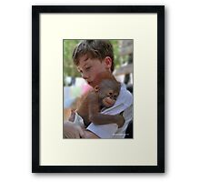 I'll do my best to save you... Framed Print