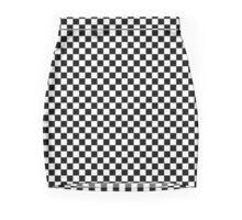 Check Square design Black and White  Pencil Skirt