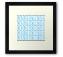 Modern Classic Pastel Blue Pattern Framed Print