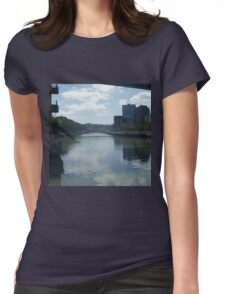 Bilbao River Serenity Womens Fitted T-Shirt