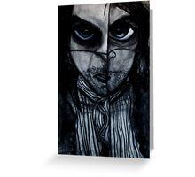 Insomnia 2 - Blue Greeting Card