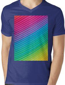 Rainbow Slinky 6 Mens V-Neck T-Shirt