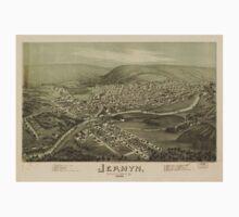 Panoramic Maps Jermyn Lackawanna County Pa Baby Tee