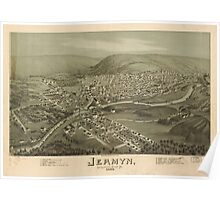 Panoramic Maps Jermyn Lackawanna County Pa Poster