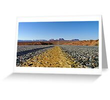 Monument Highway Greeting Card