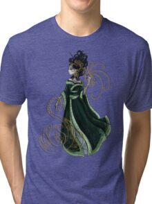 Gold Gilded Leda: A Bollywood Geisha Tri-blend T-Shirt