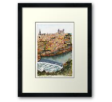River Tagus Weir, Toledo Framed Print