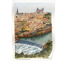 River Tagus Weir, Toledo Poster