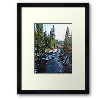 Snowy Mountain Stream Framed Print