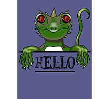 Monster say hello modern gifts Photographic Print