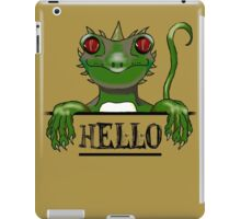 Monster say hello modern gifts iPad Case/Skin