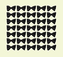 Many Bow Ties- Black by Megan  Koth