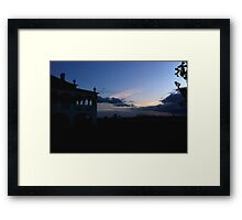 Sky and Architecture Framed Print