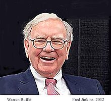 Warren Buffet Portrait by Fred Jinkins