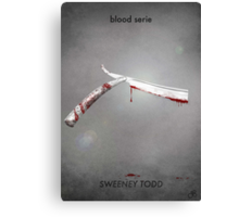Sweeney Todd - blood serie Canvas Print