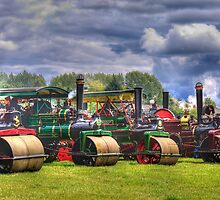 Steam Road Rollers  by Ian Jeffrey