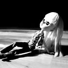 Relax - Monochrome Doll Photo by dinkydivas
