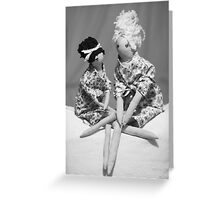 Girls Chatting! iphone case Greeting Card