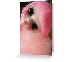 Pink Cute Tangkou Doll Photo Greeting Card