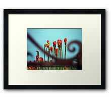 Pokers behind the gate Framed Print
