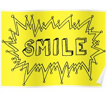 Smile - yellow Poster