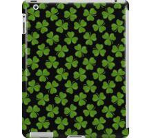 Irish Shamrocks on Black iPad Case/Skin