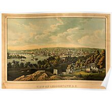 Panoramic Maps View of Georgetown DClith and printed in colors by E Sachse Co 003 Poster
