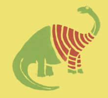 Brontosaurus in a Sweater  Kids Tee