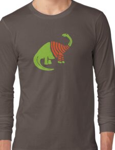Brontosaurus in a Sweater  Long Sleeve T-Shirt