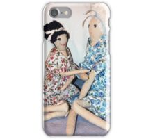Girls Chatting in pretty dresses! iphone case iPhone Case/Skin