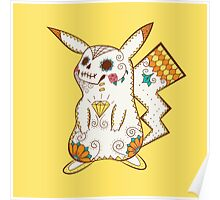 Pikachu Pokemuerto | Pokemon & Day of The Dead Mashup Poster