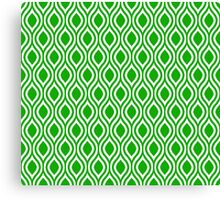 Modern Classic Green Pattern Canvas Print