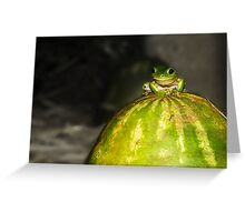 High on a melon top Greeting Card