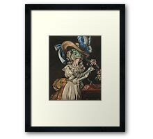 Queen Marie Antoinette en chemise (as a fish) Framed Print