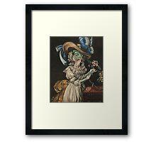 Queen Marie Antoinette en chemise (as a fish) Framed Print
