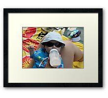Sommer og sol Framed Print
