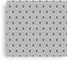 Modern Classic Grey Pattern Canvas Print