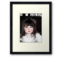 Poor Little Girl Framed Print