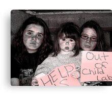 Child Labor OUT!! Canvas Print