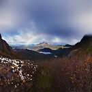 Rainbow over Rodway from Cradle Saddle by Mark Shean