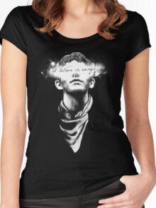 I believe in Emrys Women's Fitted Scoop T-Shirt