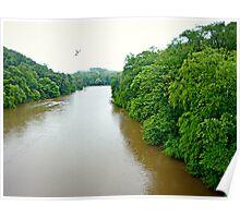 The Chattahoochee River, Marietta, Georgia Poster