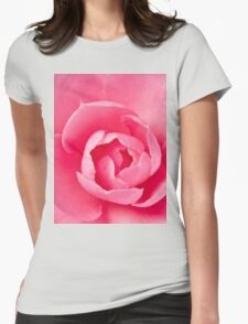 Macro Camellia Womens Fitted T-Shirt