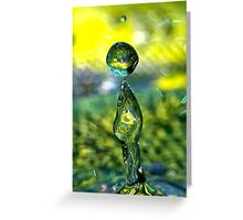 Water Sculpture Greeting Card