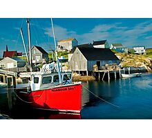 Harbour Mist in Peggy's Cove Photographic Print