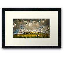 Clouds and a Hill Framed Print