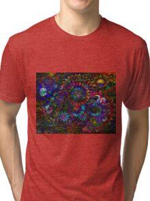 Aqua Garden Zen Tri-blend T-Shirt